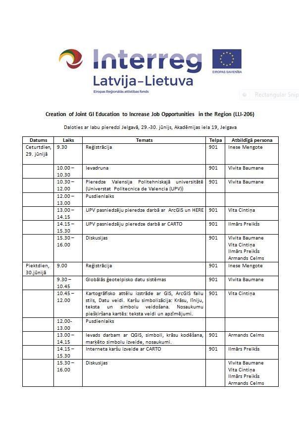 Sharing the Good Experience Event in Jelgava, Latvia – GISEDU